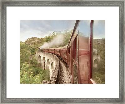 Framed Print featuring the photograph Full Steam Ahead by Roy  McPeak