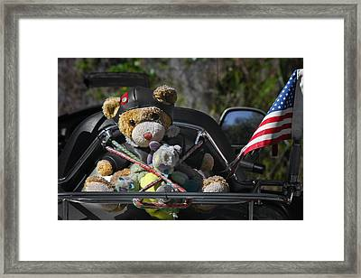 Full Throttle Teddy Bear Framed Print
