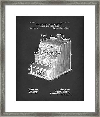 Fuller And Griswold Cash Register 1890 Patent Art Black Framed Print