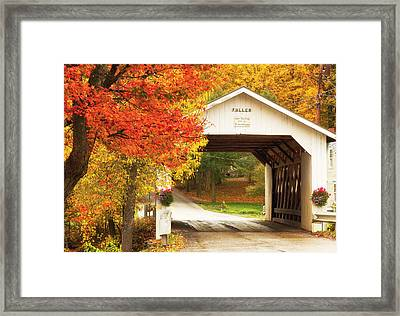 Fuller Covered Bridge Framed Print