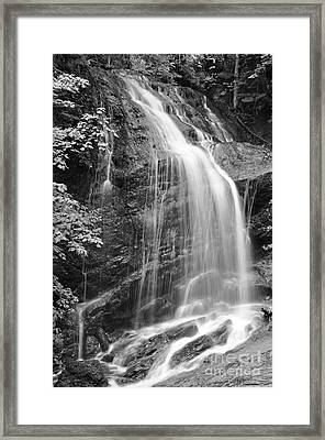 Fuller Falls Waterfall Black And White Framed Print