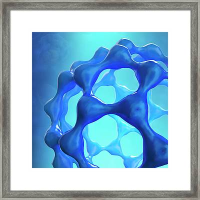 Fullerene Molecule Framed Print