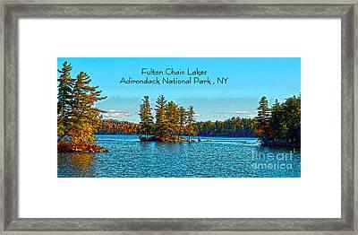 Fulton Chain Lakes  Framed Print by Diane E Berry