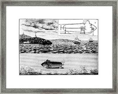 Fulton's Nautilus Submarine Framed Print by Universal History Archive/uig