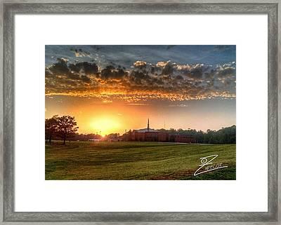 Fumc Sunset Framed Print