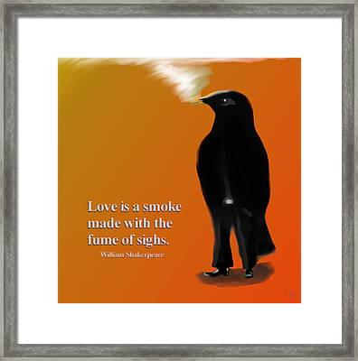 Fume Of Sighs - Williams Shakespeare Framed Print