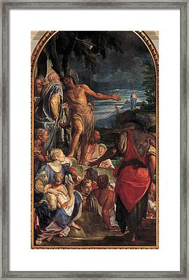Fumiani Giovanni Antonio, The Sermon Framed Print by Everett