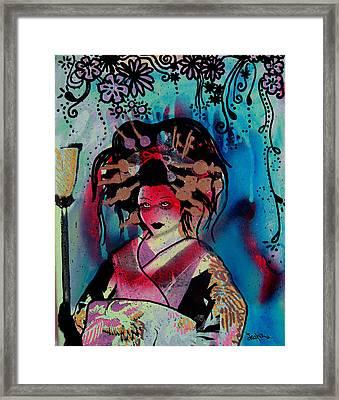 Fumiko Framed Print by Erica Falke