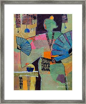 Fumiko's Fan Dance Framed Print by Melody Cleary