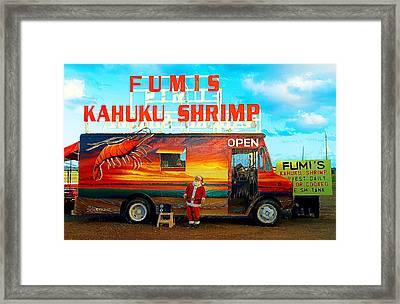 Fumis Kahuku Shrimp Framed Print by Ron Regalado