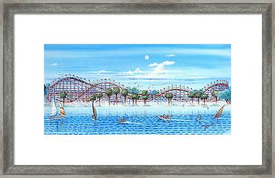 Fun At Mission Bay Framed Print