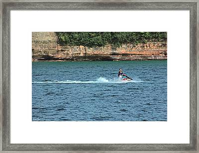 Fun At Pictured Rocks Framed Print