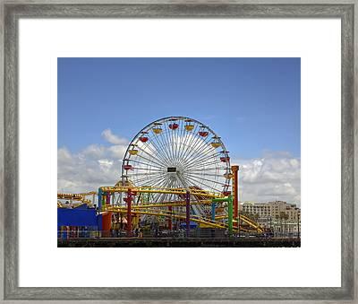 Fun At Santa Monica Pier Framed Print by Kim Hojnacki