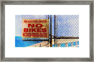 Fun At The Beach - Mike Hope Framed Print