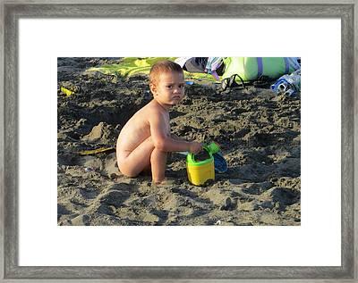 Fun At The Beach Framed Print