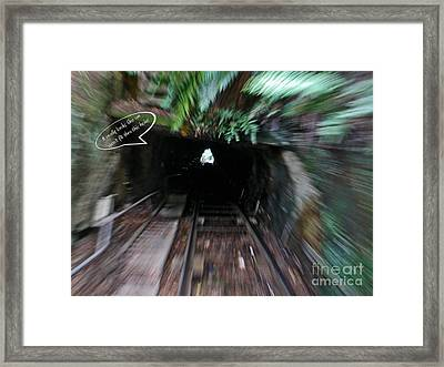 Fun At The Blue Mountains - Scenic Railway 2 Framed Print by Kaye Menner