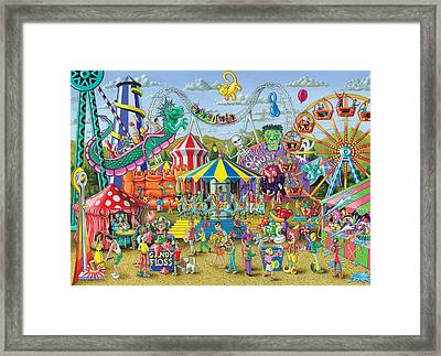 Fun At The Fairground Framed Print