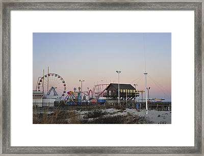 Fun At The Shore Seaside Park New Jersey Framed Print