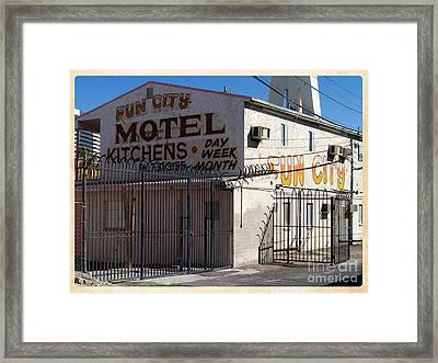 Fun City Las Vegas Motel Framed Print