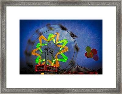 Fun Evening At The Carnival Framed Print by Susan Candelario
