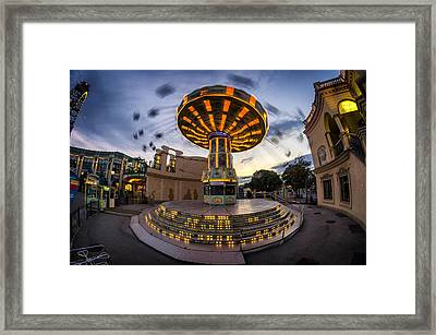 Fun Fair In The Night Framed Print