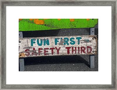 Fun First Framed Print by Garry Gay