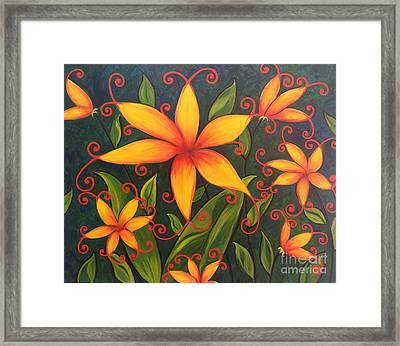 Fun Flowers Framed Print