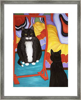 Fun House Fat Cat Framed Print