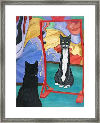 Fun House Skinny Cat Framed Print
