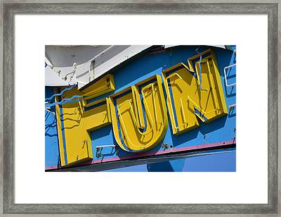 Fun In Seaside Heights Nj Framed Print