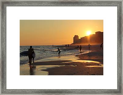 Fun In The Fading Sun Framed Print by Tina Sessions