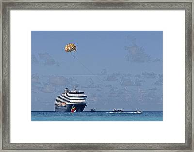Fun In The Sun - Ship At Anchor Framed Print