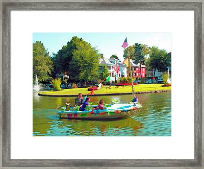 Fun On The Pond Framed Print