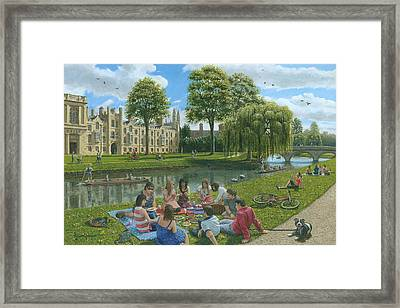 Fun On The River Cam Cambridge Framed Print