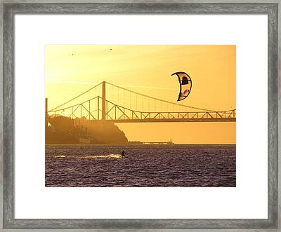 Fun On The Water Framed Print