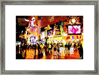 Fun Time In Old Las Vegas Framed Print