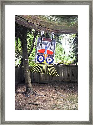Fun To Hang Upside Down From A Tree Framed Print