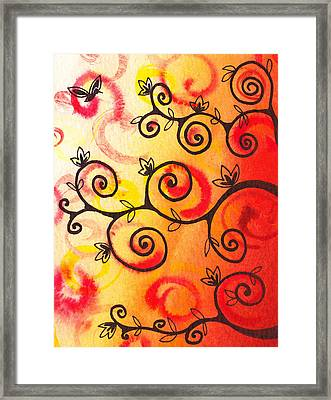 Fun Tree Of Life Impression I Framed Print by Irina Sztukowski
