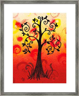 Fun Tree Of Life Impression IIi Framed Print by Irina Sztukowski