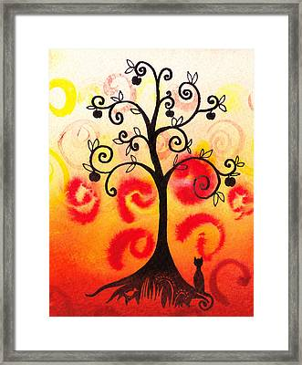 Fun Tree Of Life Impression Iv Framed Print by Irina Sztukowski