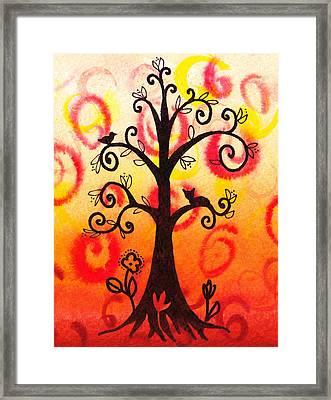 Fun Tree Of Life Impression V Framed Print by Irina Sztukowski