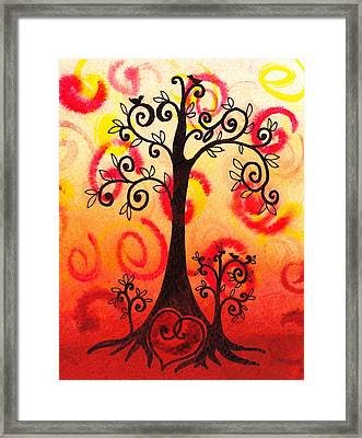 Fun Tree Of Life Impression Vi Framed Print by Irina Sztukowski