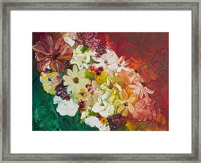 Fun With Flowers Framed Print