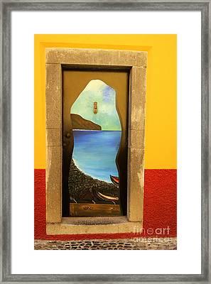 Funchal Door Art 4 Framed Print