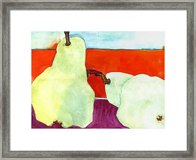 Fundamental Pears Still Life Framed Print