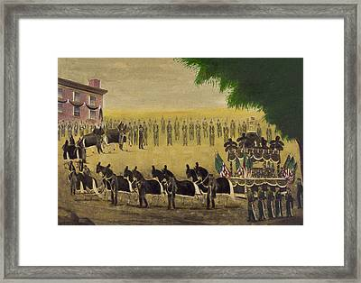 Funeral Car Of President Lincoln Circa 1879 Framed Print by Aged Pixel
