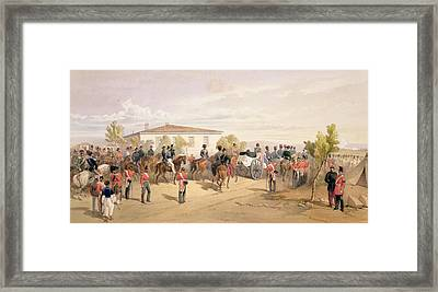 Funeral Cortege Of Lord Raglan Leaving Framed Print by William 'Crimea' Simpson