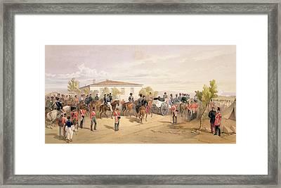 Funeral Cortege Of Lord Raglan Leaving Framed Print