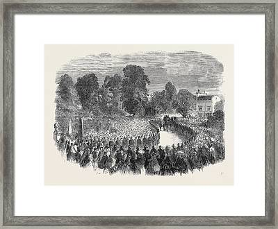 Funeral Of Mr Braidwood The Late Chief Of The London Fire Framed Print by English School