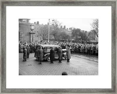 Funeral Of Sean South Framed Print